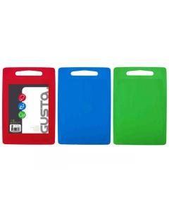 Snijplank 26x34cm groen/rood/blauw - set 3 stuks