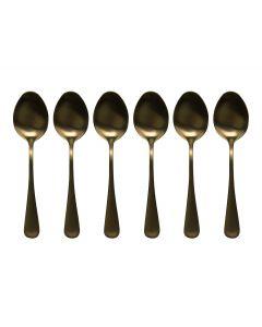 Koffielepeltjes goud - set 6 stuks