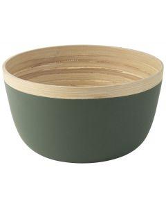 Schaal ø25x13,5cm Bamboe Groen