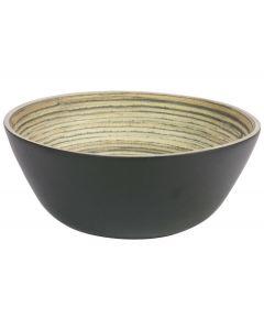 Saladeschaal bamboe ø30,5cm Zwart