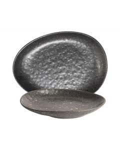 Bord 14x10,5cm Zwart Table Tales Mineral