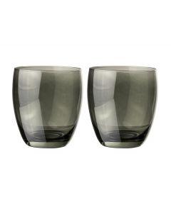 Glas 30cl grijs - set 2 stuks