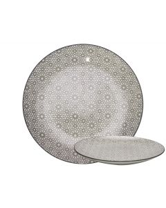 Gusta bord rond Mosaic -out of the grey ø26,5cm