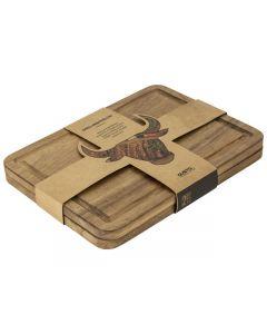 BBQ steakbord acacia hout - 2-delig - Grillin'& Chillin'