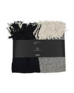 Plaid 125x150cm Zwart Wit