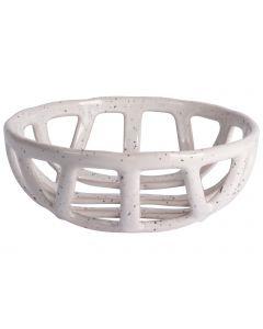Decoschaal keramiek ø20,5cm wit