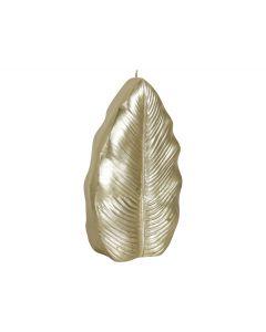 Kaars blad 9x3,8x18cm Goud