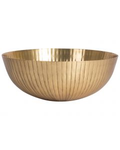 Decoschaal ø25,5x10cm goud
