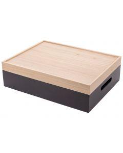 Opbergbox met dienblad 42x32x12cm