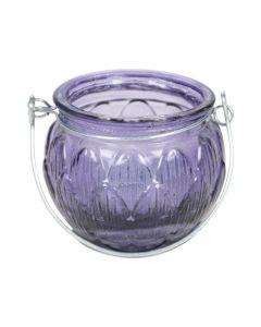 Theelichthouder ø6,5x5,5cm violet