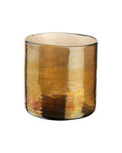 Theelichthouder ø10x10cm goud