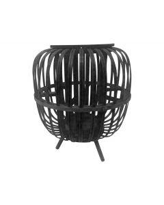 Houten sfeerlantaarn ø22x26,5cm zwart