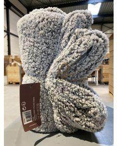 Plaid Sherpa fleece 150x200cm grijs